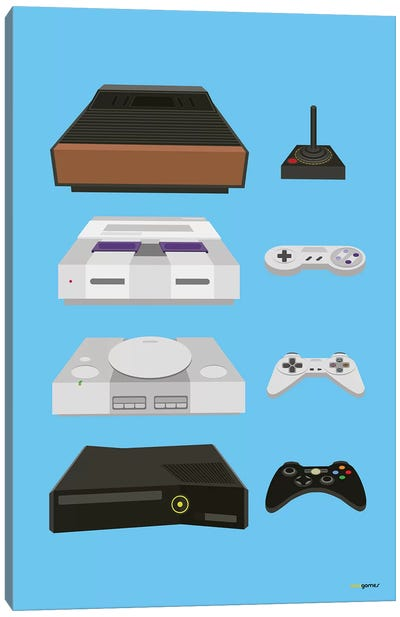 My Controls Video Games Canvas Art Print