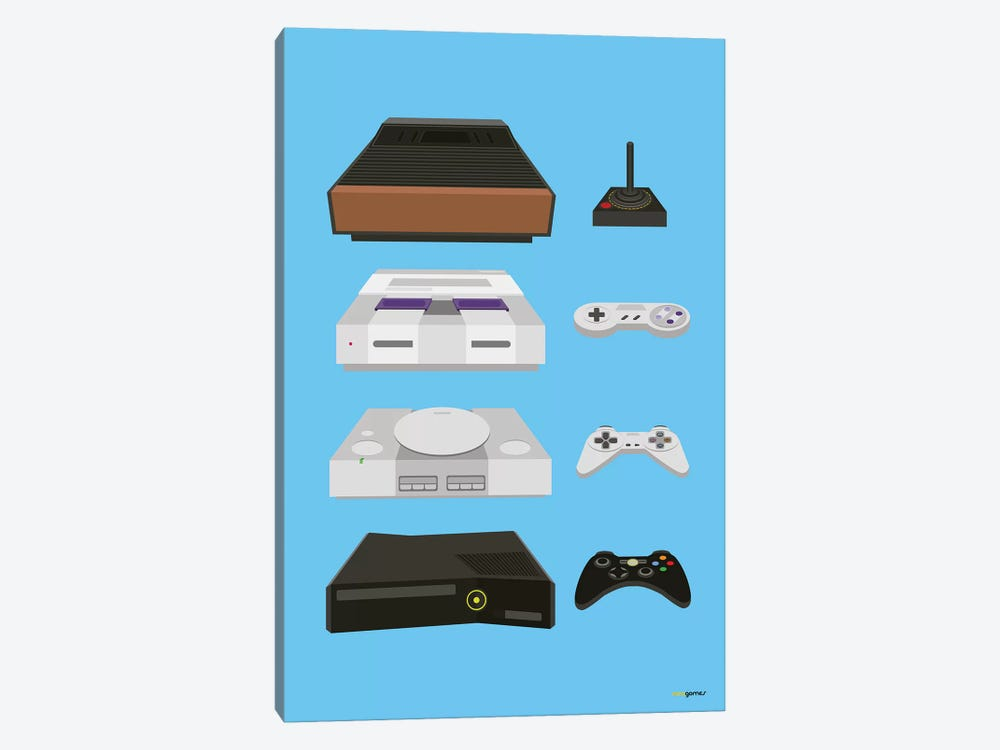 My Controls Video Games by Rafael Gomes 1-piece Canvas Artwork