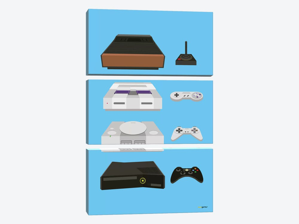 My Controls Video Games by Rafael Gomes 3-piece Canvas Artwork