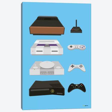 My Controls Video Games Canvas Print #RAF30} by Rafael Gomes Art Print