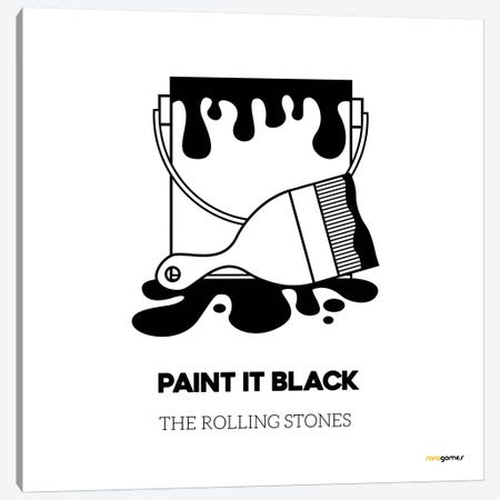 Paint It Black Canvas Print #RAF32} by Rafael Gomes Art Print