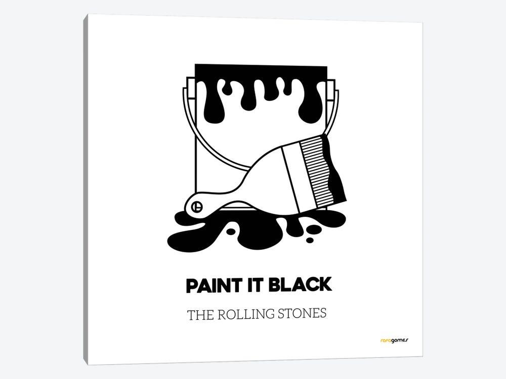 Paint It Black by Rafael Gomes 1-piece Canvas Art