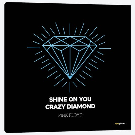 Shine On You Crazy Diamond 3-Piece Canvas #RAF35} by Rafael Gomes Canvas Art