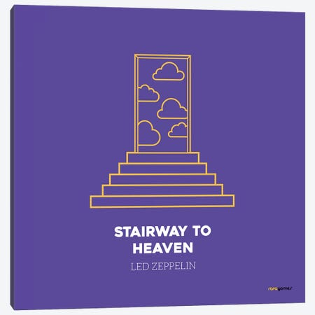 Stairway To Heaven 3-Piece Canvas #RAF39} by Rafael Gomes Art Print