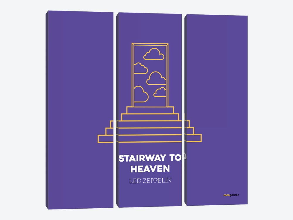 Stairway To Heaven by Rafael Gomes 3-piece Canvas Art Print