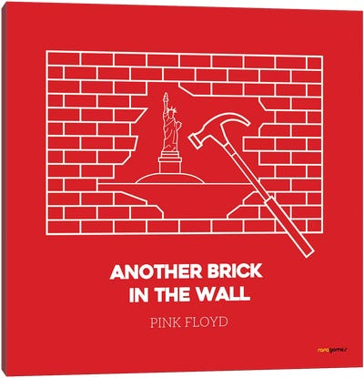 Another Brick In The Wall Canvas Art Print