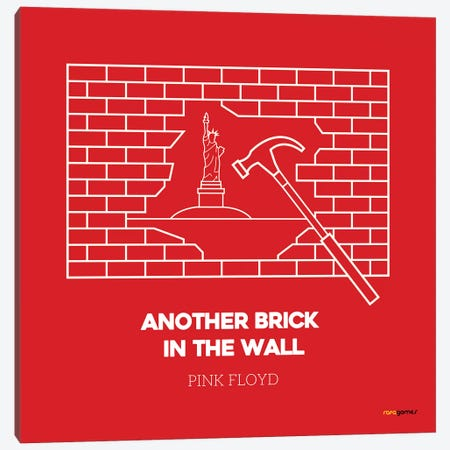 Another Brick In The Wall Canvas Print #RAF3} by Rafael Gomes Canvas Wall Art