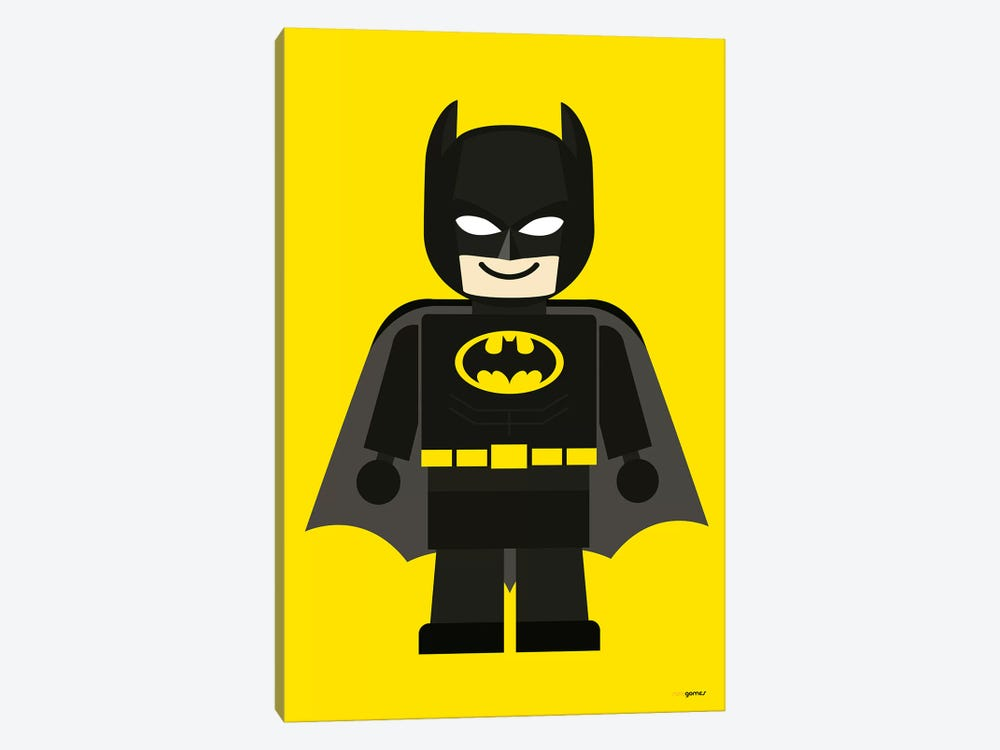 Toy Batman by Rafael Gomes 1-piece Canvas Print