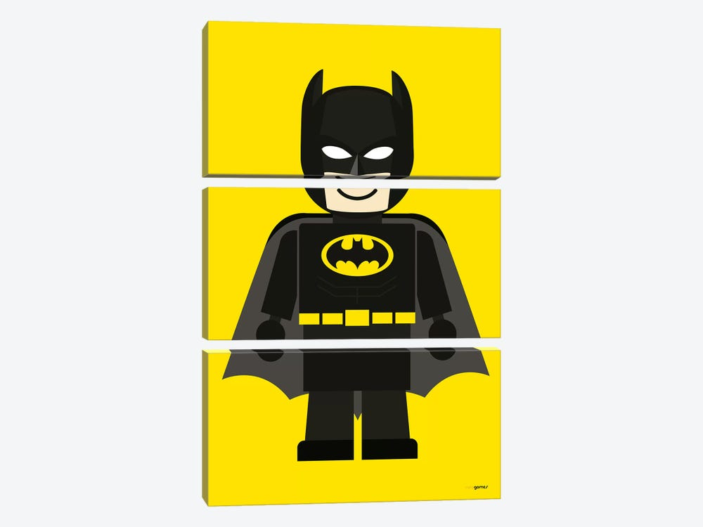 Toy Batman by Rafael Gomes 3-piece Canvas Art Print