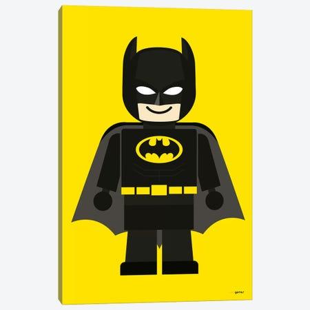 Toy Batman 3-Piece Canvas #RAF44} by Rafael Gomes Canvas Art Print