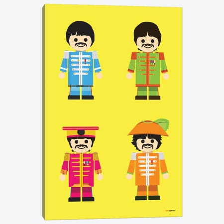 Toy Beatles Canvas Print #RAF45} by Rafael Gomes Canvas Print