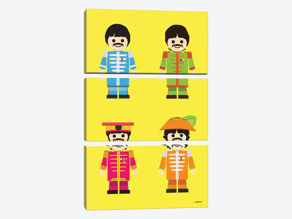 Toy Beatles by Rafael Gomes 3-piece Canvas Artwork