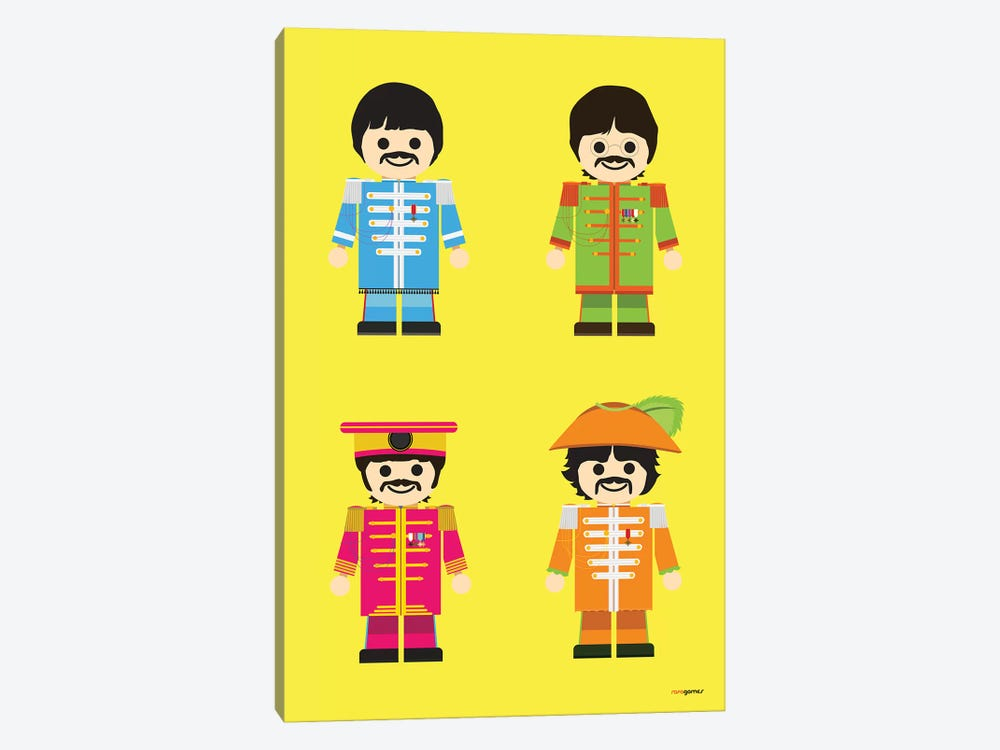 Toy Beatles by Rafael Gomes 1-piece Canvas Artwork
