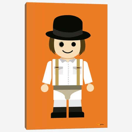 Toy Clockwork Orange Canvas Print #RAF46} by Rafael Gomes Art Print