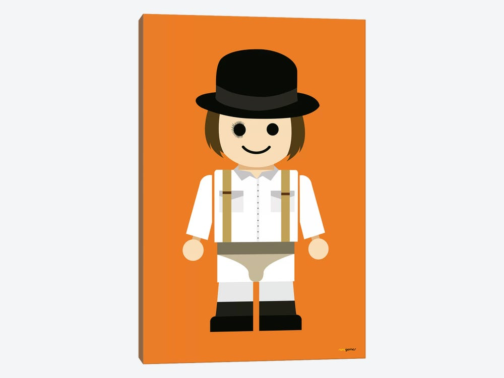 Toy Clockwork Orange by Rafael Gomes 1-piece Canvas Art Print
