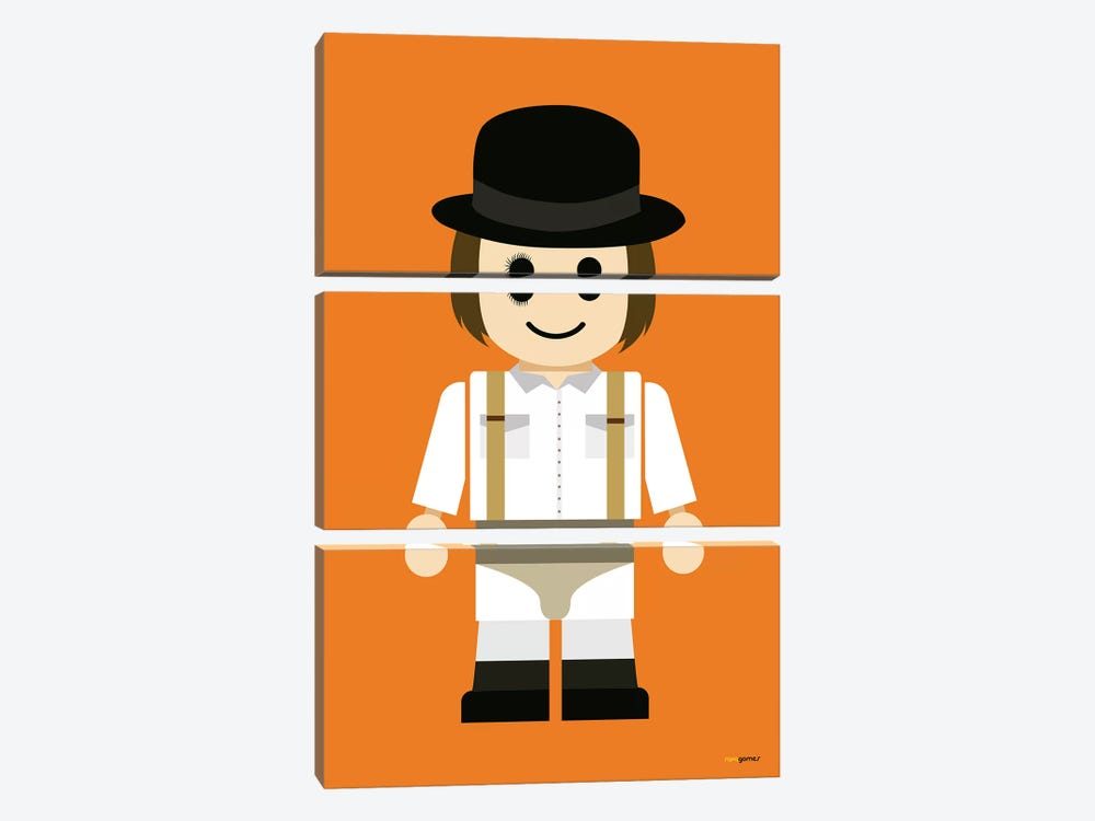 Toy Clockwork Orange by Rafael Gomes 3-piece Art Print