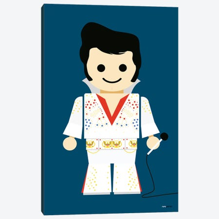 Toy Elvis Canvas Print #RAF49} by Rafael Gomes Canvas Art