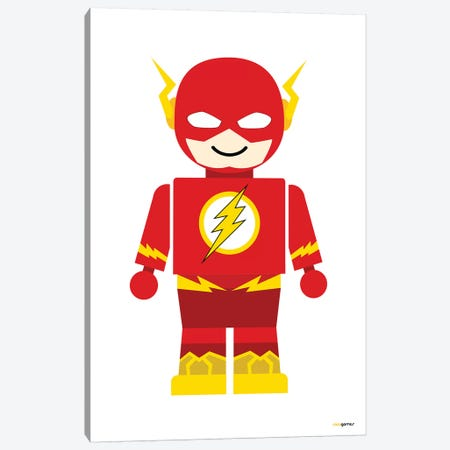Toy Flash 3-Piece Canvas #RAF50} by Rafael Gomes Canvas Print