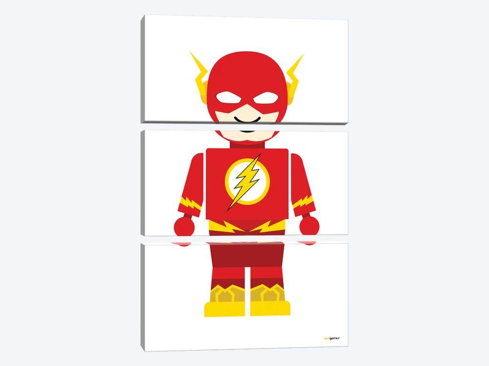 Toy Flash by Rafael Gomes 3-piece Canvas Artwork