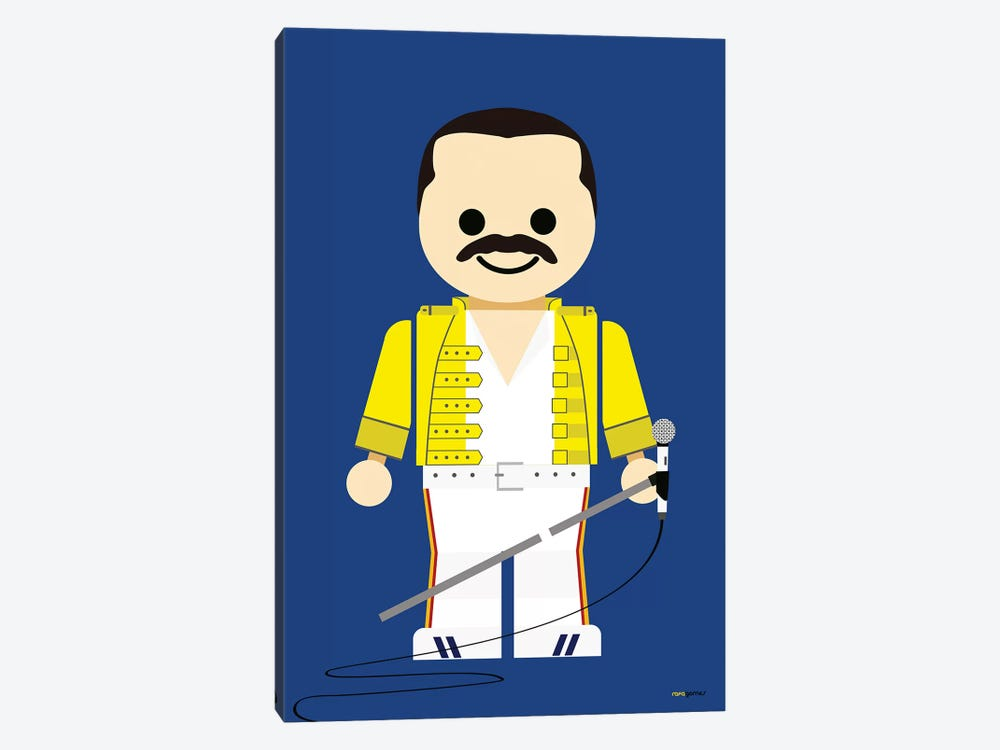Toy Freddie Mercury by Rafael Gomes 1-piece Canvas Print