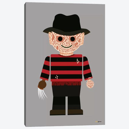 Toy Freddy Krueger Canvas Print #RAF52} by Rafael Gomes Art Print