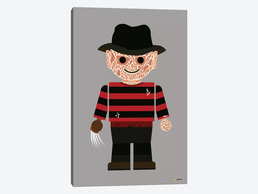 Toy Freddy Krueger by Rafael Gomes 1-piece Canvas Artwork