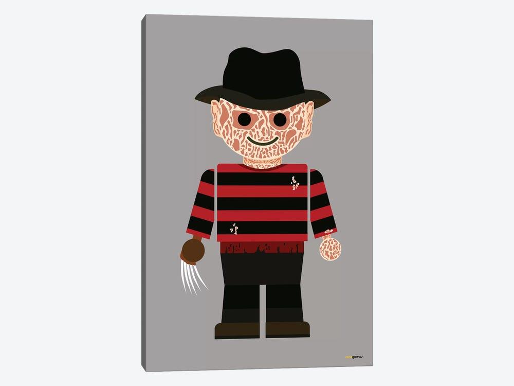 Toy Freddy Krueger by Rafael Gomes 1-piece Canvas Artwork