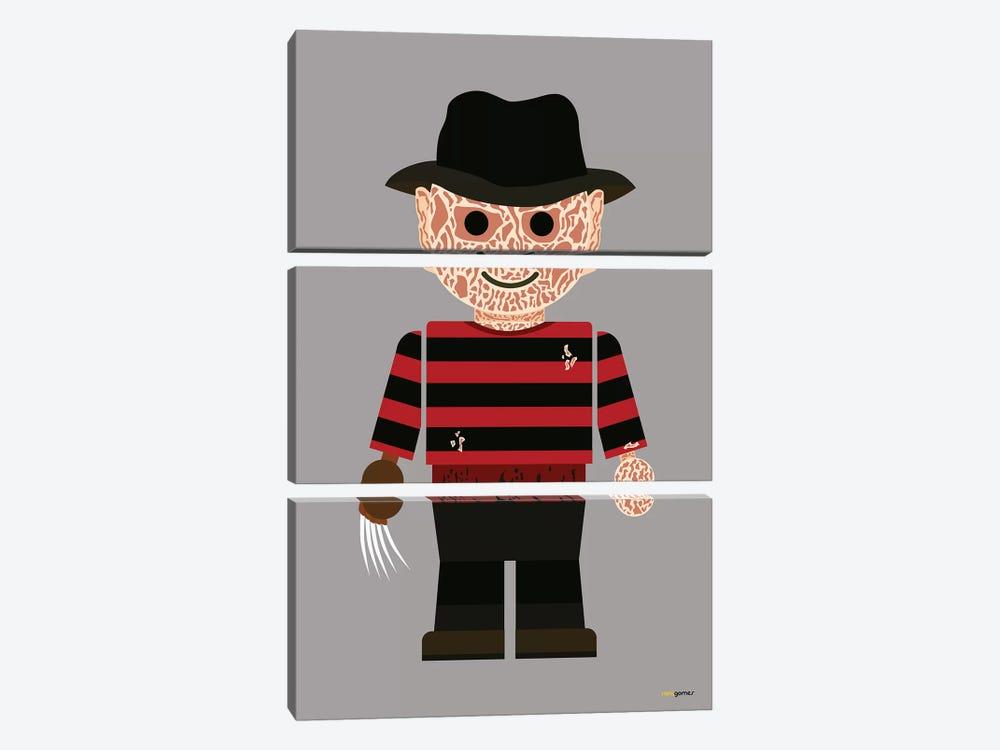 Toy Freddy Krueger by Rafael Gomes 3-piece Canvas Artwork