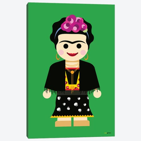 Toy Frida Canvas Print #RAF53} by Rafael Gomes Canvas Print