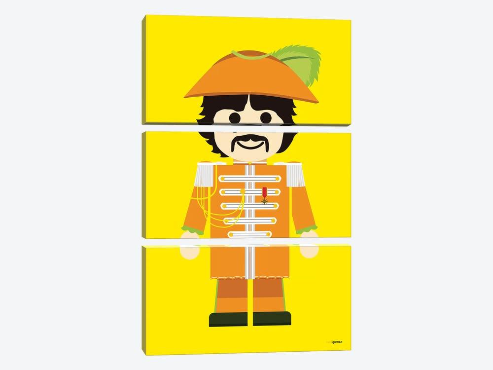 Toy George Harrison by Rafael Gomes 3-piece Canvas Art Print