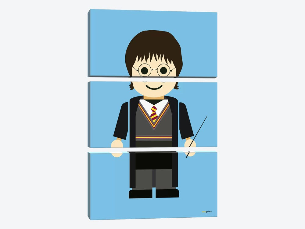 Toy Harry Potter by Rafael Gomes 3-piece Canvas Artwork