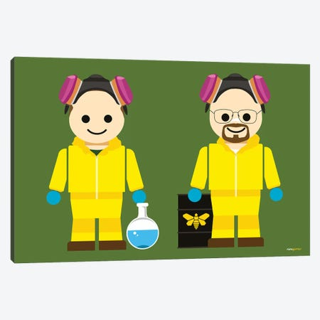 Toy Jesse Pinkman And Walter White Canvas Print #RAF58} by Rafael Gomes Canvas Art Print