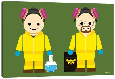 Toy Jesse Pinkman And Walter White Canvas Art Print