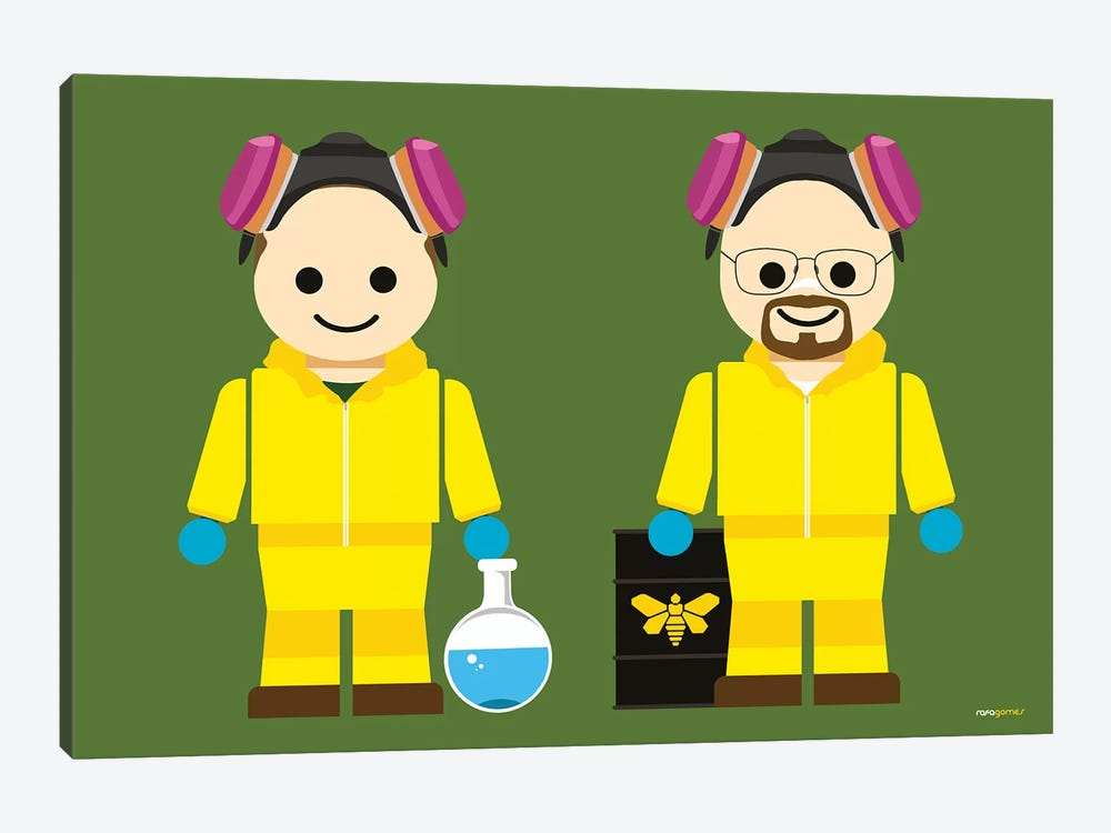 Toy Jesse Pinkman And Walter White by Rafael Gomes 1-piece Canvas Art
