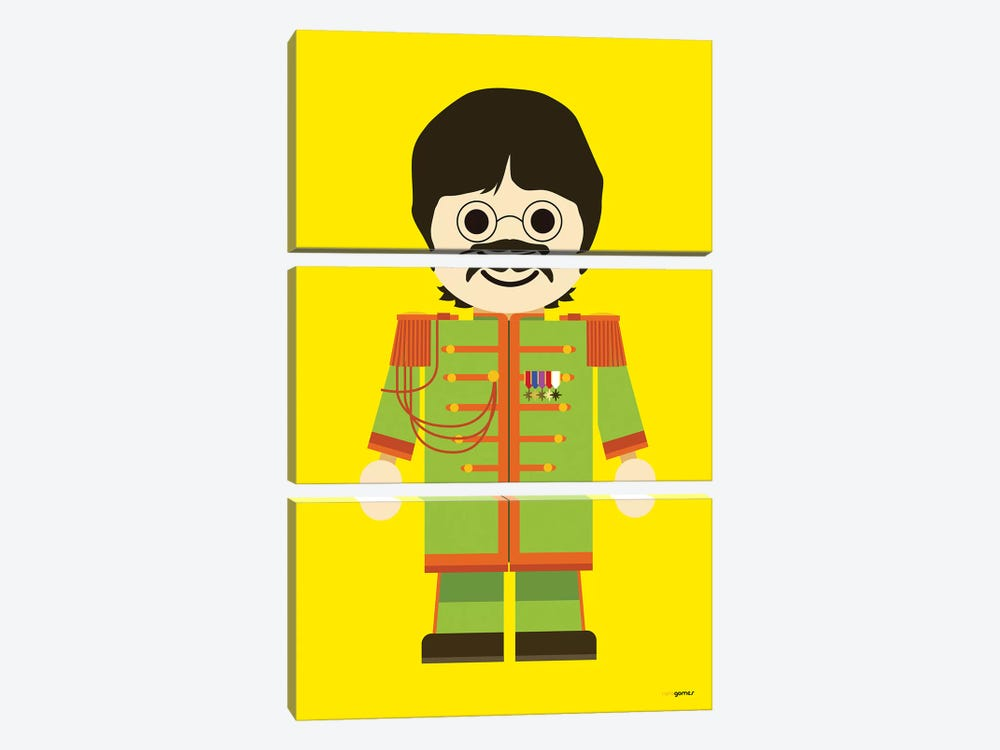 Toy John Lennon by Rafael Gomes 3-piece Canvas Art Print