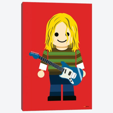 Toy Kurt Cobain 3-Piece Canvas #RAF61} by Rafael Gomes Canvas Wall Art
