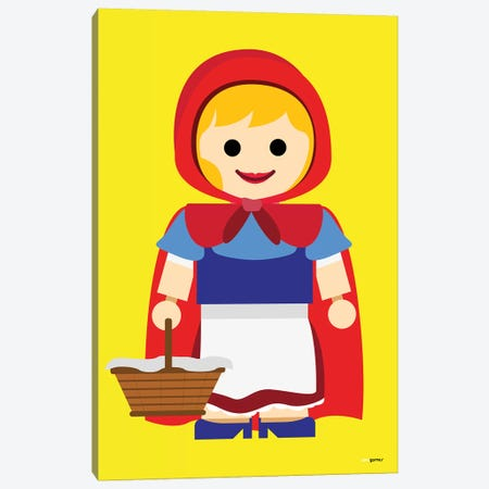 Toy Little Red Riding Hood Canvas Print #RAF62} by Rafael Gomes Canvas Art