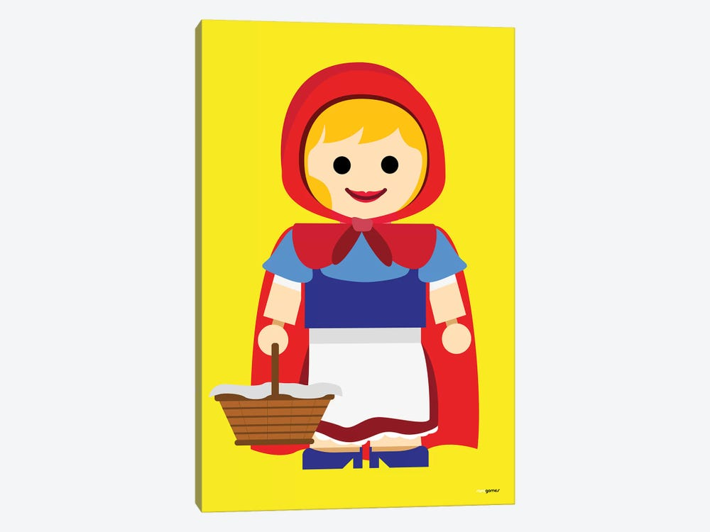 Toy Little Red Riding Hood by Rafael Gomes 1-piece Canvas Art Print