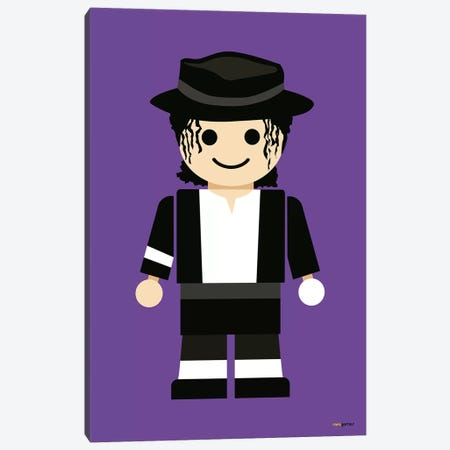 Toy Michael Jackson Canvas Print #RAF64} by Rafael Gomes Art Print