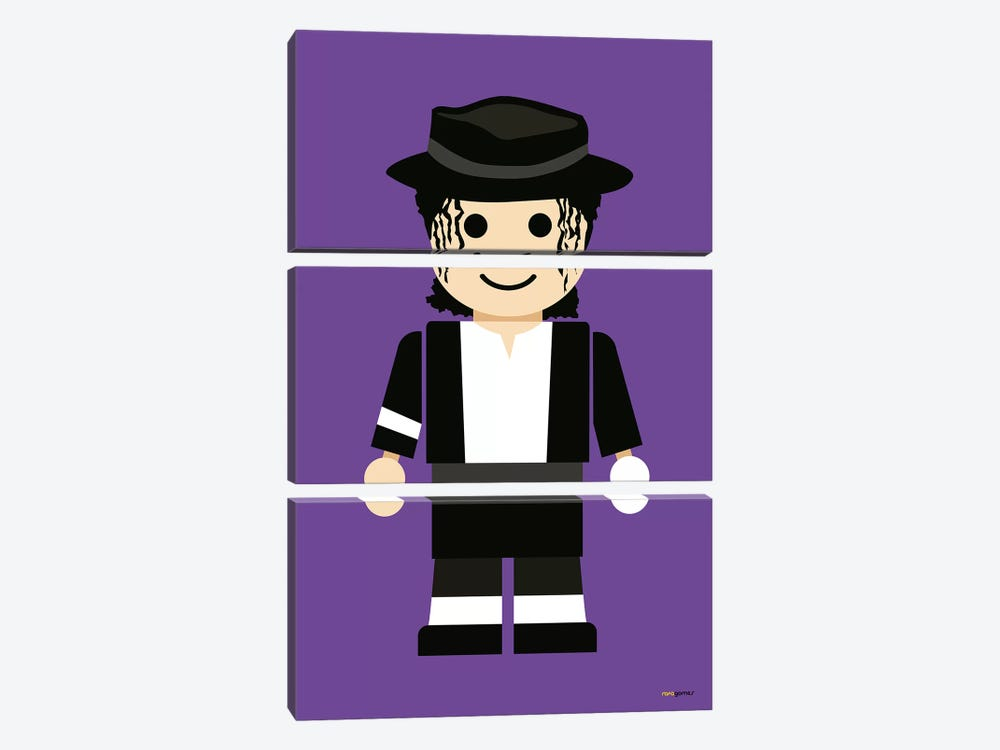 Toy Michael Jackson by Rafael Gomes 3-piece Canvas Art Print