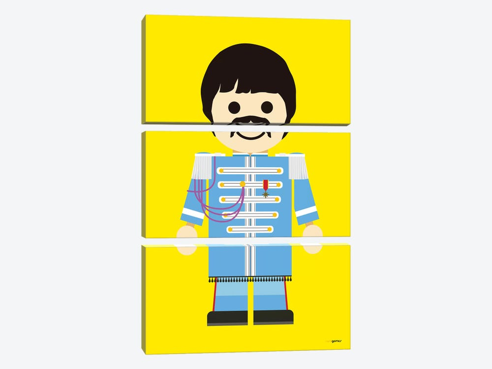 Toy Paul McCartney by Rafael Gomes 3-piece Canvas Art