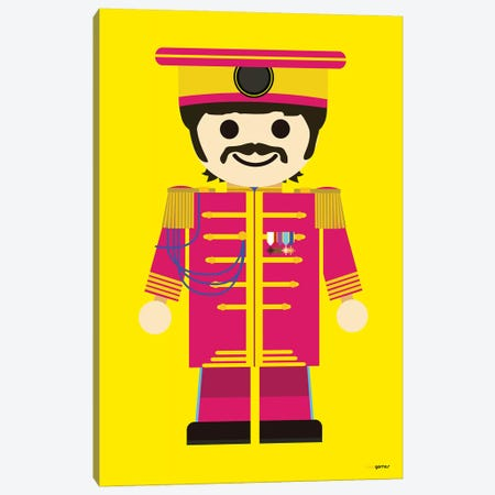 Toy Ringo Starr 3-Piece Canvas #RAF66} by Rafael Gomes Canvas Print