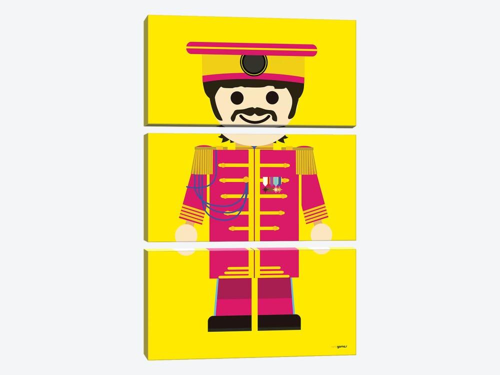Toy Ringo Starr by Rafael Gomes 3-piece Canvas Print