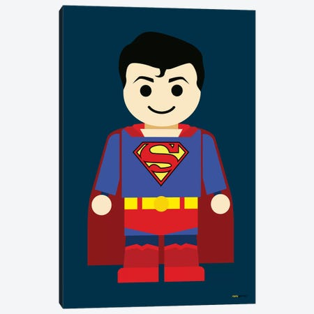 Toy Superman Canvas Print #RAF68} by Rafael Gomes Canvas Wall Art