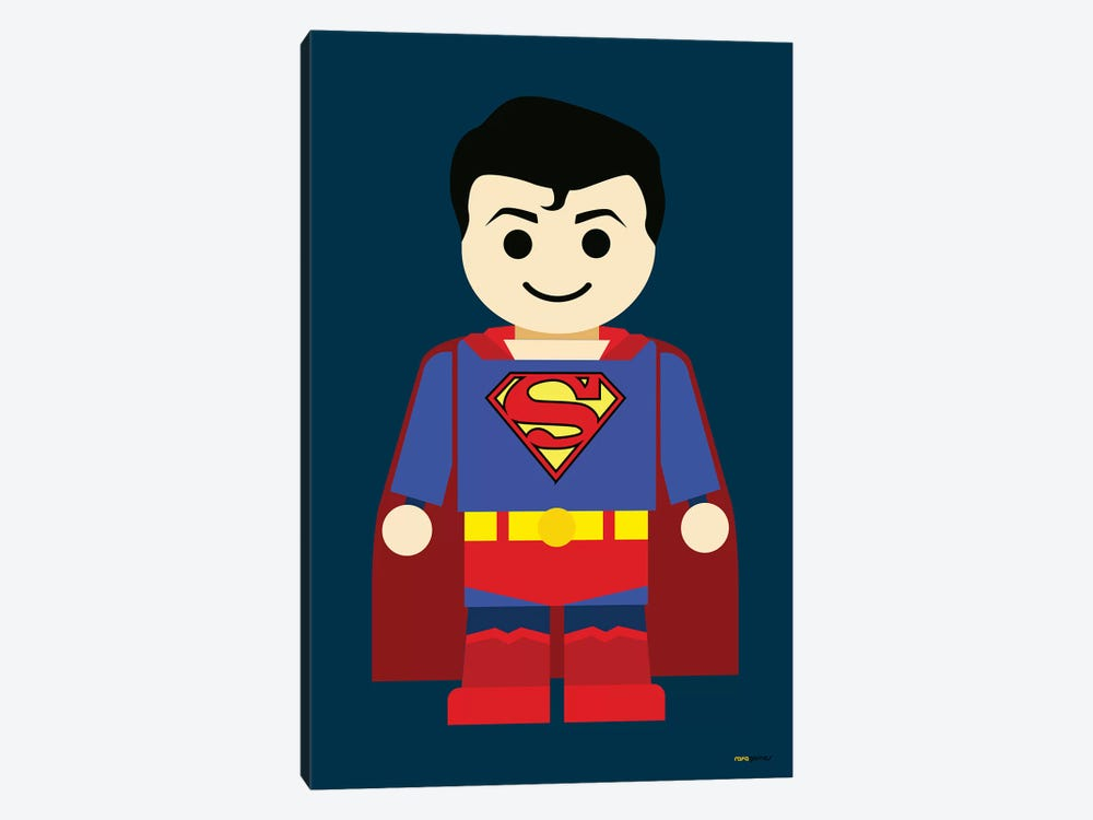 Toy Superman by Rafael Gomes 1-piece Canvas Art Print