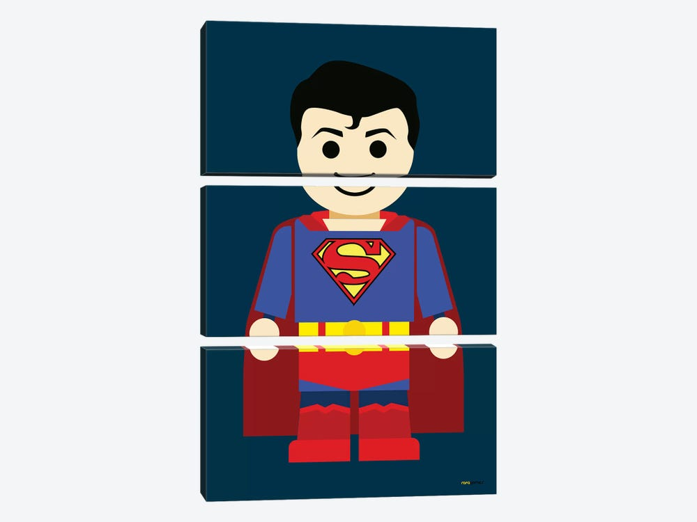 Toy Superman by Rafael Gomes 3-piece Art Print