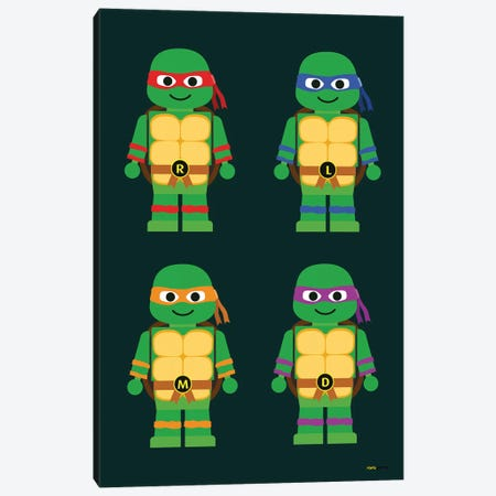 Toy Teenage Mutant Ninja Turtles 3-Piece Canvas #RAF69} by Rafael Gomes Canvas Artwork