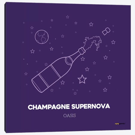 Champagne Supernova Canvas Print #RAF6} by Rafael Gomes Canvas Art Print