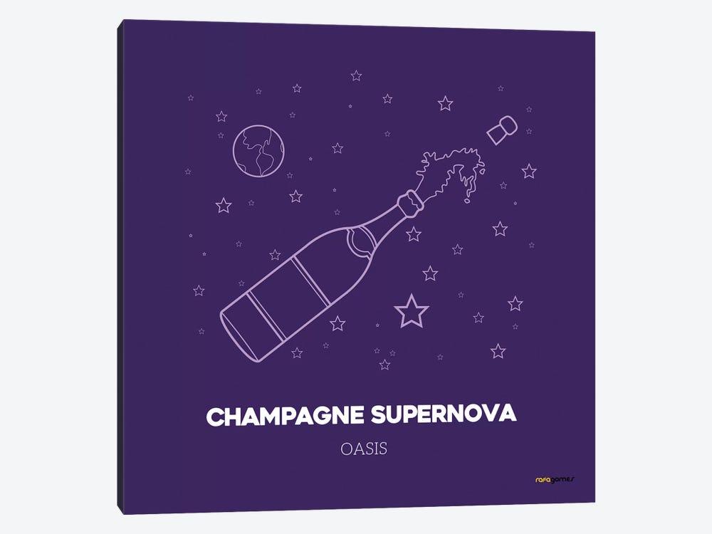 Champagne Supernova by Rafael Gomes 1-piece Canvas Wall Art