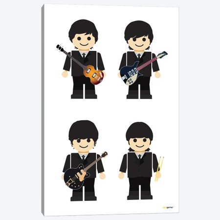 Toy The Beatles I Canvas Print #RAF70} by Rafael Gomes Canvas Art Print